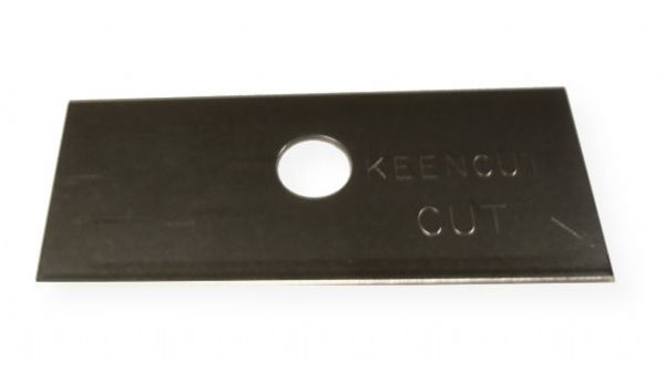 Keencut 69137 Tech S 0.015 Blades (Box of 100) for Ultimat Gold and Ultimat Futura; For bevel cutting white core and conservation mat board thicker than 3mm; Single ground edge 0.012