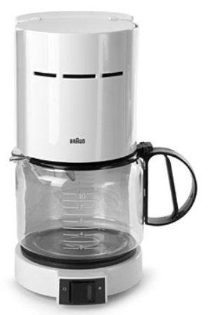 Braun KF420W 10-Cup Coffeemaker W/ Gold Screen Filter, White (KF-420W KF 420W KF420W Coffee ...