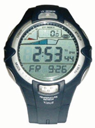 Konus 4419 TREKMAN-UV Watch with Graphical Visualization of the Movement of the Tides and Thermometer (KONUS4419 KONUS-4419 TREKMANUV TREKMAN UV)