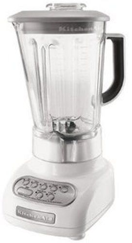 Kitchenaid ksb560wh five speed blender with 56 oz for What brand of blender is used on the chew
