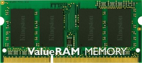 Kingston KVR1333D3S8S9/2G ValueRAM Memory, 2 GB Memory Size, DDR3 SDRAM Memory Technology, 1 x 2 GB Number of Modules, 1333 MHz Memory Speed, DDR3-1333/PC3-10600 Memory Standard, Non-ECC Error Checking, Unbuffered Signal Processing, 204-pin Number of Pins, SoDIMM Form Factor, UPC 740617176216 (KVR1333D3S8S92G KVR1333D3S8S9-2G KVR1333D3S8S9 2G)