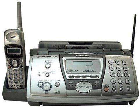 cordless phone with fax machine