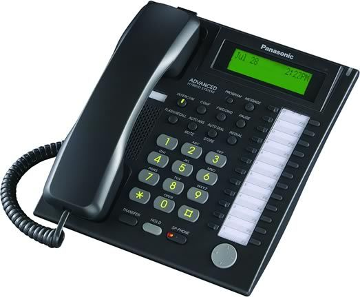 Panasonic KX-T7736-B Digital Phone, Keypad Dialer Type, Base Dialer Location, 24 Programmable Buttons Qty, 3-step -off / low / high Ringer Control, LCD display - monochrome, Base Display Location, 3 Line Qty, Backlit Features, Conference Call Capability, Intercom, Speakerphone, Caller ID, Voice Mail Capability, Call Waiting, Call Forwarding, Call Transfer, Call Hold, Volume Control, Designed to work with the KX-TA624 Advanced Hybrid Telephone System, Black Color (KXT7736B KX T7736 B KX T7736-B)