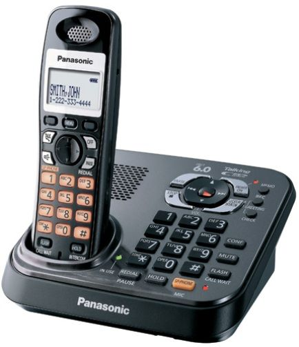 Panasonic KX-TG9341T DECT 6.0 Expandable Digital Cordless Phone with All-Digital Answering System, Dual Keypads, Call Block, Night Mode, Talking Caller ID / Talking Alarm Clock / Talking Battery Alert, Light-Up Indicator and Expandable Up to 6 Handsets, Black, Frequency 1.9 GHz (KXTG9341T KX TG9341T KX-TG9341 KXTG9341)
