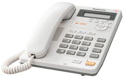 Panasonic Kx Ts600w Integrated Telephone System With Ringer Indicator Led And Hearing Aid Compatibility Hac White