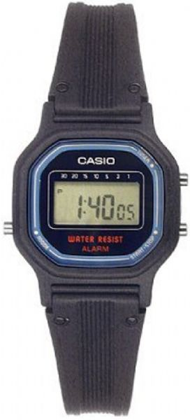 Casio LA11WB-1 Women's Digital Watch, Mineral Dial window material type, Fold-over-clasp-with-hidden-push-button Clasp, Resin Case material, Black Dial color, Resin Bezel material, Stationary Bezel Function (LA11WB-1 LA11WB1 LA11WB 1 LA11WB)