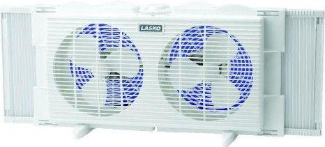 Lasko 2137 Twin Window 7 Inch Fan White Can Be