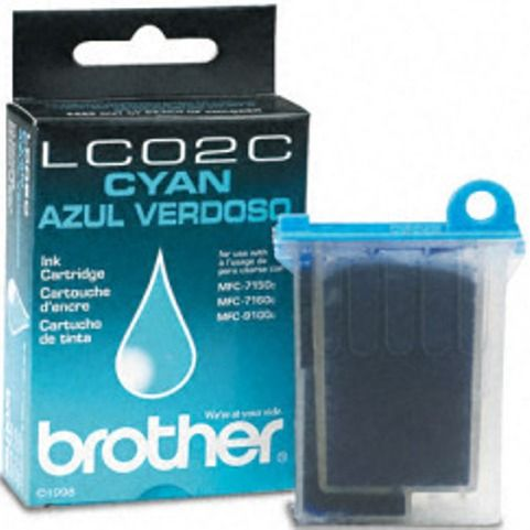 Brother LC02C Cyan Ink Cartridge Inkjet Print Technology
