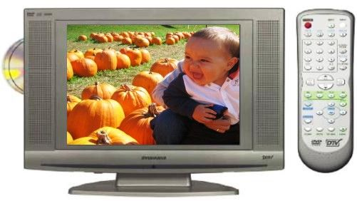 Sylvania LD155SL8 Flat Panel 15 LCD Display With Built In DVD Player Resolution XGA 1024 X 768 Response Speed 16ms Contrast Ratio 4501