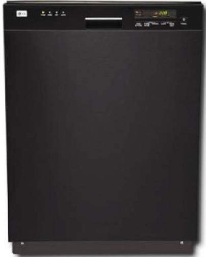 Lg Lds4821bb Full Console Dishwasher Lodecibel Quiet Operation Senseclean Washing System 4 Wash Cycles With 3