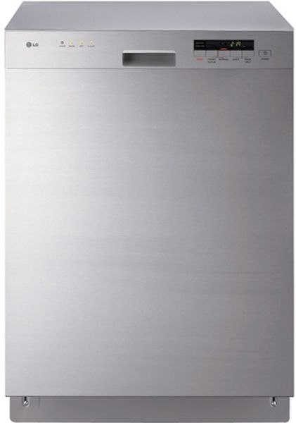 Lg Lds4821st Full Console Dishwasher Lodecibel Quiet Operation Senseclean Washing System 4 Wash Cycles With 3