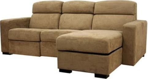 Wholesale Interiors LER 005 TAN SOFA CHAISE Hol b Tan Microfiber