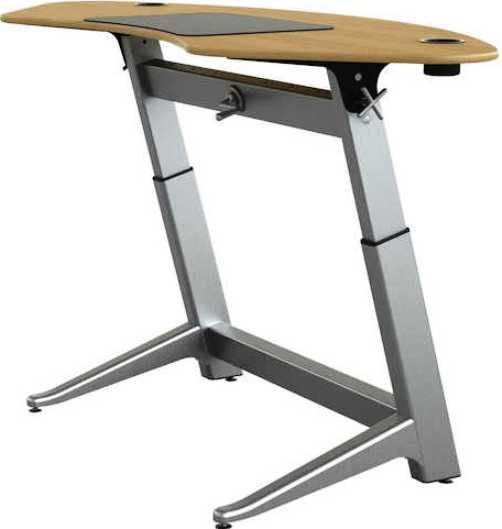 Safco LET-1000-OA Focal Sphere Standing Desk, Rated up to 180 lbs, Height-adjustable desk basetop, Powder coated aluminum cup holders, Top made with 13-layer hard-plywood, Desk top is 78