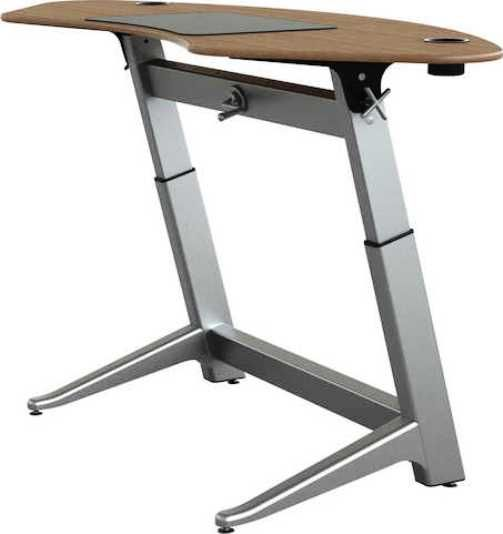 Safco LET-1000-WA Focal Sphere Standing Desk, Rated up to 180 lbs, Height-adjustable desk basetop, Powder coated aluminum cup holders, Top made with 13-layer hard-plywood, Desk top is 78