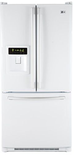 Lg Lfd22860sw French Door Refrigerator Smooth White 22 4 Cu Ft Total Capacity Side By Fresh
