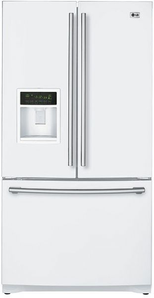 Lg Lfx25960sw Smooth White 24 7 Cu Ft French Door
