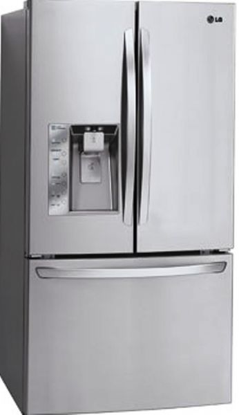 Lg Lfx33975st French Door Refrigerator With Spill Protector Tempered