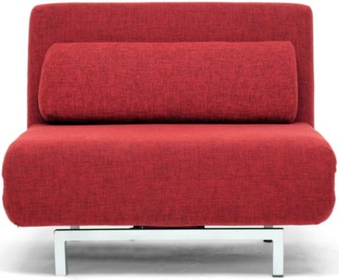 Whole Interiors Lk06 1 D 06 Red Amiens Convertible Accent Chair Bed In Steel Frame Fabric Sofa Fill With Poly Foam