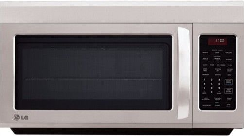 LG LMV1813ST Over-The-Range Microwave Oven, Stainless Steel, 1.8 cu. ft. Oven Capacity, 1100 Watts, 400 CFM Exhaust Fan, Sensor Cooking, Contoured Design, Electronic Controls, QuietPower Ventilation System, White VFD Scrolling, 2 line Display, 7 Sensor Cook Options, 10 Power Levels, Auto, Time and Rapid Defrost, UPC 048231316880 (LMV-1813ST LMV 1813ST LMV1813S LMV1813)