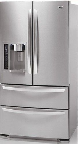 LG LMX25981ST Four Door French Door Refrigerator With Ice And Water  Dispenser, Stainless Steel, 24.7 Cu.Ft. Total Capacity, French Door  Refrigerator With ...