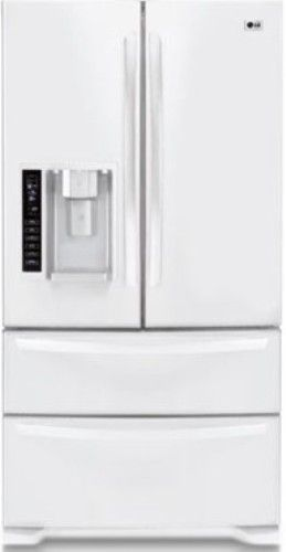 Charmant LG LMX25985SW Four Door French Door Refrigerator With Ice And Water  Dispenser, Smooth White, 24.7 Cu.ft. Ultra Capacity, French Door  Refrigerator With ...