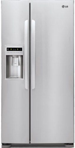 LG LSC23924ST Side-By-Side Refrigerator, 23. cu.ft. Capacity, Tall Ice & Water Dispensing Center, Energy Star, LT500P Water Filtration System, LED Electronic Display, LoDecibel Operation, Utility Bin, Ice and Water Dispenser, Molded Shelf Construction (LSC23924ST LSC-23924ST LSC23924-ST LSC-23924-ST LSC 23924ST LSC23924 ST)