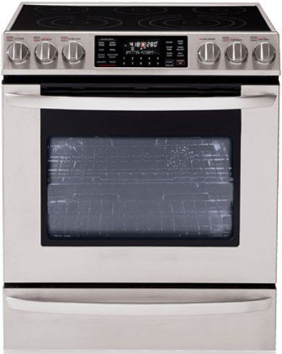 lg lse3092st extra large capacity slide in electric range