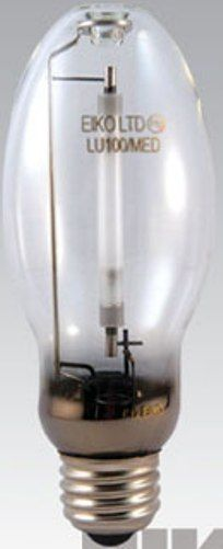 Eiko LU70/MED model 15306 High Pressure Sodium Light Bulb, 52 Volts, 70 Watts, Clear Coating, 5.44/138.0 MOL in/mm, 2.17/55.0 MOD in/mm, 24000 Average Life, 6300 Approx Initial Lumens, 5670 Approx Mean Lumens, 3.44/87.0 LCL in/mm, 2100 Color Temperature Degrees of Kelvin, ED-17 Bulb, E26 Medium Screw Base, S62 ANSI Ballast, 21 CRI, Universal Burning Position, UPC 031293153067 (15306 LU70MED LU70 MED LU70-MED EIKO15306 EIKO-15306 EIKO 15306)