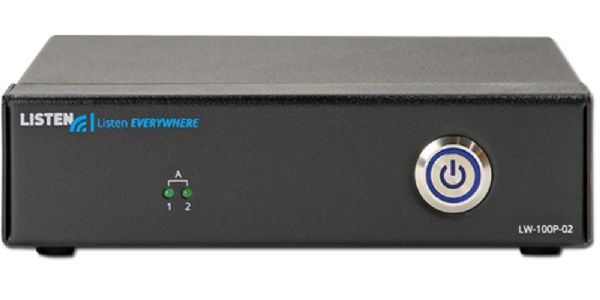 Listen Technologies LW-100P-02-01 Listen Everywhere 2 Channel Server; Up to 1000 users; 2 Channels; Low Latency; Uses Existing Wireless Network; The audio over Wi-Fi servers shall be capable of broadcasting multiple audio sources over Ethernet to a WLAN access point; Smart phones and tablets shall be able to receive the audio broadcast through a proprietary app; (LISTENTECHNOLOGIESLW100P0201 LISTENTECHNOLOGIES LW100P0201 LISTEN TECHNOLOGIES LW 100P 02 01 LW-100P-02-01)