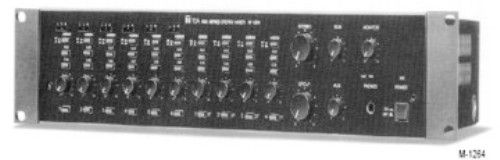 TOA Electronics M-1264 Professional Rack Mount Stereo Mixer, Matrix mixing of mono and stereo inputs to up to six separate outputs (M1264, M 1264)