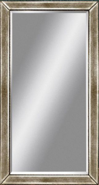 silver floor mirror. Bassett Mirror M2546BEC Beaded Leaner Antique Frame Floor Mirror, Made Of Wood, Silver Leaf Finish, Detailing,