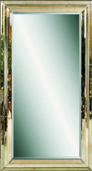Glass framed floor mirror