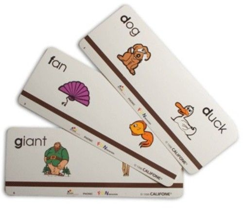 Califone MCFP1 Action Phonic Fundamentals Set 88 Full Color Cards Initial And Final Consonants Vowels Consonant Vowel Digraphs