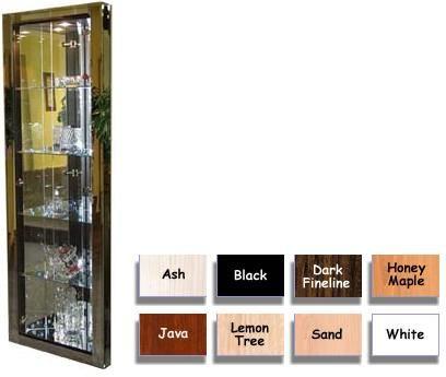 Sharut MIRAGE-921 Corner Curio with Full Length Glass Doors (MIRAGE