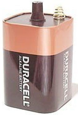 Volt Battery on Duracell Mn908 Alkaline Lantern 6 Volt Battery  12 Ah  6v   2 8 X 2 8