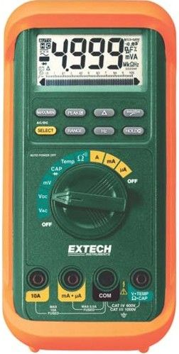 Extech MP530A MultiPro High-Performance MultiMeter, True RMS measurements for AC Voltage and Current, F/C Temperature...
