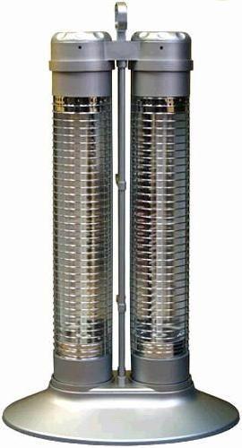 Soleus Air Ms 23s Dual Column Reflective Heater Silver