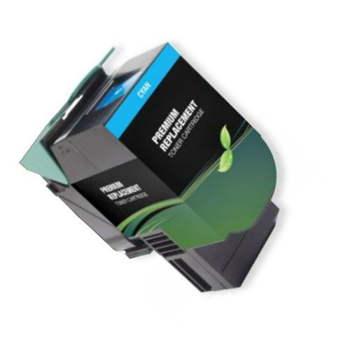 MSE Model MSE022480116 Remanufactured High-Yield Cyan Toner Cartridge To Replace Lexmark 80C1HC0; Yields 3000 Prints at 5 Percent Coverage; UPC 683014205373 (MSE MSE022480116 MSE 022480116 MSE-022480116 80C 1HC0 80C-1HC0)