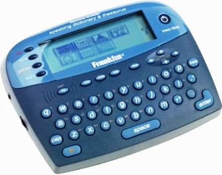 Ectaco MWS-1840 Franklin Merriam-Webster Speaking Dictionary, Built ...