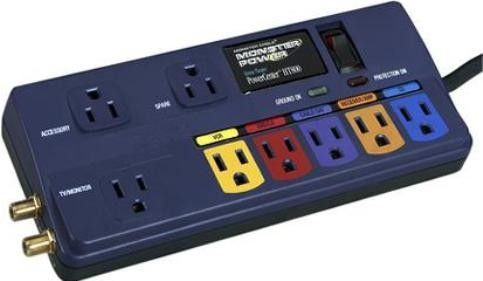 Monster 109315 Model Mp Hts700 Center 8 Outlet 1300 Joule Home Theater Surge Protector