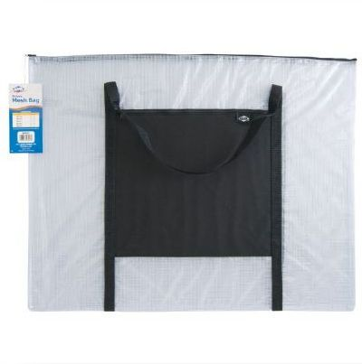 Alvin NBH2331 Deluxe Mesh Bag 23 x 31 inches, Color Black/Gray; Ideal for drafting kits, drawings, artwork, documents, and much more, these bags offer visibility and protection; Durable see through vinyl is reinforced with mesh webbing for strength; Shipping Dimensions 24.00 x 32.00 x 0.50 inches; Shipping Weight 1.14 lbs; UPC 088354801306 (NBH-2331 NBH/2331  N-B-H2331 ALVINNBH2331 ALVIN-NBH2331)
