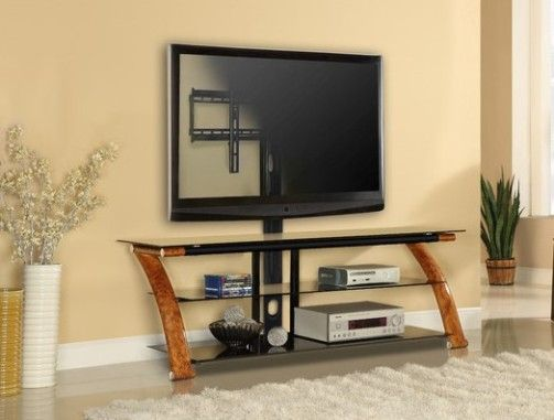 Innovex Nex65 Bw Am100g29 Nexus Ez 65 Tv Stand With Mount Burl Wood