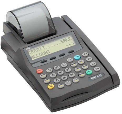 VeriFone Nurit 2085 Credit Card Terminal and Printer, 2 line, 16