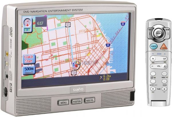 Sanyo NV-E7500 Touch Screen Portable Navigation & DVD Entertainment System, 7