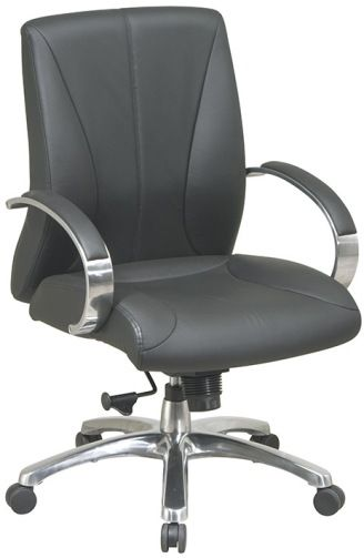 Office Star 8001 Pro Line II Deluxe Mid Back Executive Leather Chair
