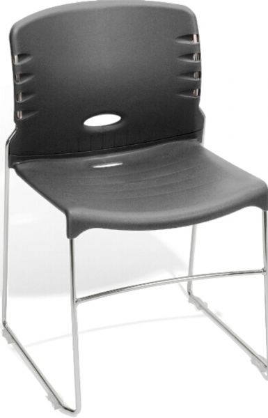 OFM 320-P07 Stack Chair With Plastic Seat and Back, 300 lbs. weight capacity, 18.25