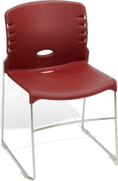OFM 320-P17 Stack Chair With Plastic Seat and Back, 300 lbs. weight capacity, 18.25