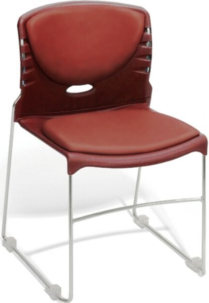 OFM 320-VAM-603 Stack Chair with Anti-Microbial/Anti-bacterial Seat & Back, 19.25