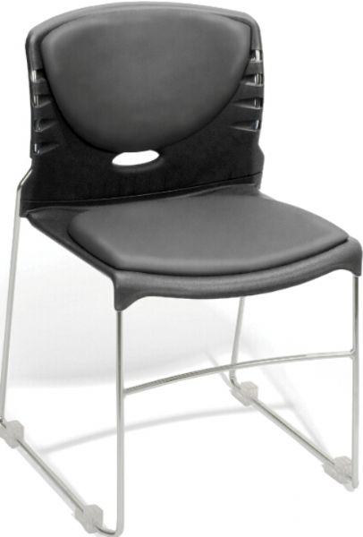 OFM 320-VAM-604 Stack Chair with Anti-Microbial/Anti-bacterial Seat & Back, 19.25