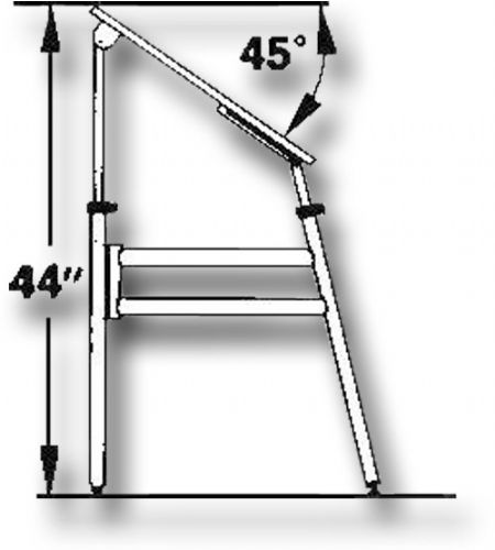 Alvin OP48-3 Opal Folding Drafting Table, Board angle adjusts from ...